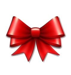 Red gift bow vector image vector image