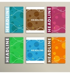 Set of color round for abstract cover design vector image