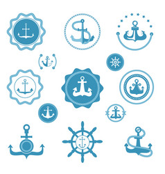 vintage retro anchor icons and label sign vector image vector image