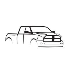 4th gen ram crew cab 3500 hd sport hood silhouette vector image