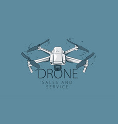 A drawn drone for sale and service vector