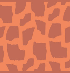 animal skin print pattern brown spotted fashion vector image