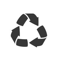 Arrow recycle eco organic icon graphic vector