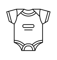 baby bodysuit icon vector image
