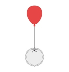 balloon stamp air vector image
