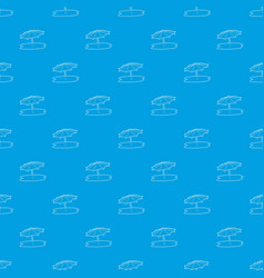 beach umbrella pattern seamless blue vector image
