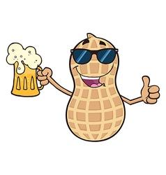 Beer Drinking Peanut Cartoon vector