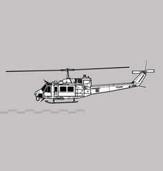 bell uh-1n iroquois twin huey vector image