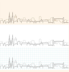 bordeaux hand drawn profile skyline vector image
