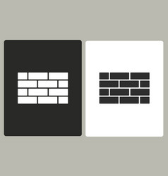 Brick wall - icon vector