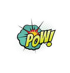 cartoon comic book sound pow bubble blast vector image