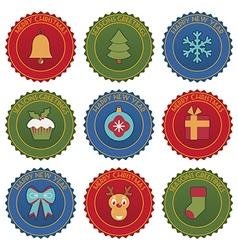 Christmas badges vector