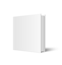 Closed square hardcover book mockup vector
