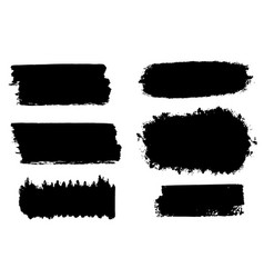 Collection brush hand drawn graphic element vector
