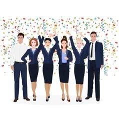 Corporate business team enjoying success vector