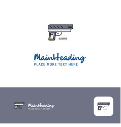 creative gun logo design flat color logo place vector image