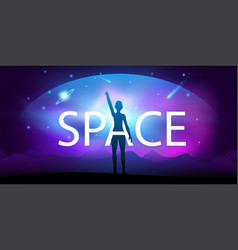 Creative space background vector