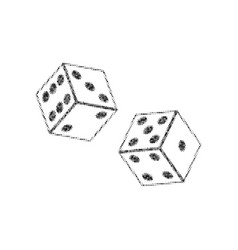 Dices sign black icon from many vector