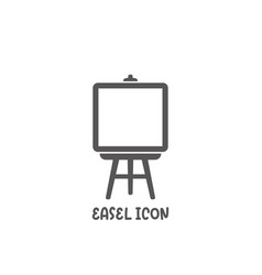 Easel icon simple flat style vector