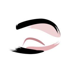 Eyelashes and eyebrows logo vector