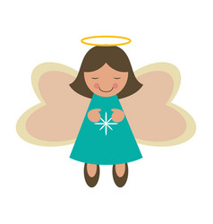 female angel icon image vector image