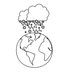 figure cloud snowing icon vector image