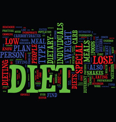 Find out which special diet will work for you vector