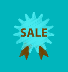 flat shading style icon sale label vector image