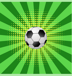 football ball icon on halftone green yellow vector image