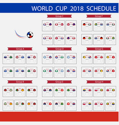 football world cup 2018 scheduleinternational vector image