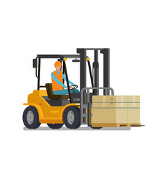 Forklift lift truck warehouse logistic storage vector
