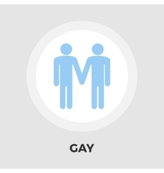 Gay sign flat icon vector