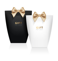 gift box template set of realistic package vector image