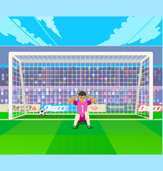 goalkeeper training at gates vector image