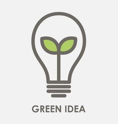 green idea vector image