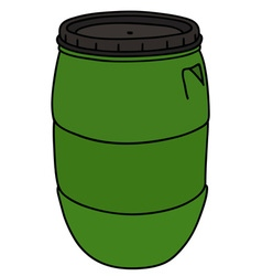 Green plastic barrel vector