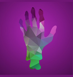 hand of triangles vector image