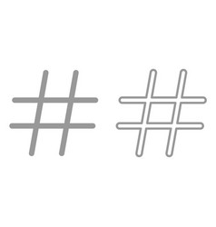 hashtag it is icon vector image