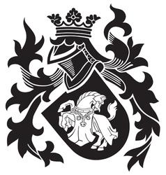 heraldic silhouette No25 vector image