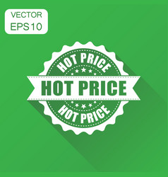 Hot price rubber stamp icon business concept hot vector