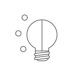icon concept light bulb vector image