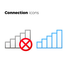 internet access icon set no connection symbol vector image