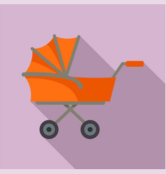 kid trolley icon flat style vector image