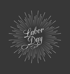Labor day calligraphic handwriting lettering vector