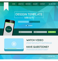 Landing page web vector image
