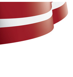 latvia flag on a white vector image