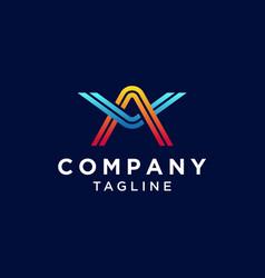 Letter av logo design vector