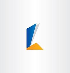 Letter l symbol design vector