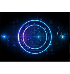 light futuristic game center circuit digital vector image