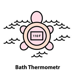 line icon of bath thermometer vector image